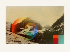 Colored Mountain- Contemporary, Abstract, Pop Art, Modern, Surrealist, Landscape
