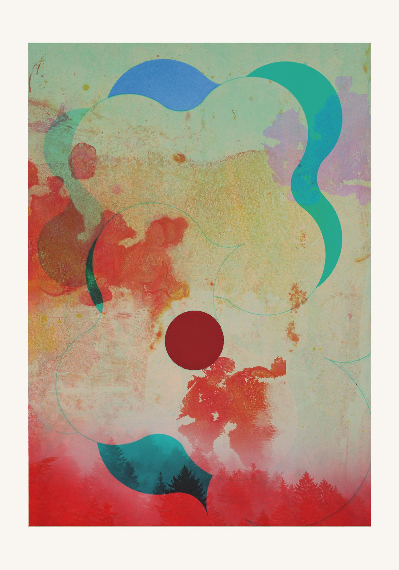 Forest 07 -Contemporary , Abstract, Gestual, , Pop, Modern, Geometric, landscape