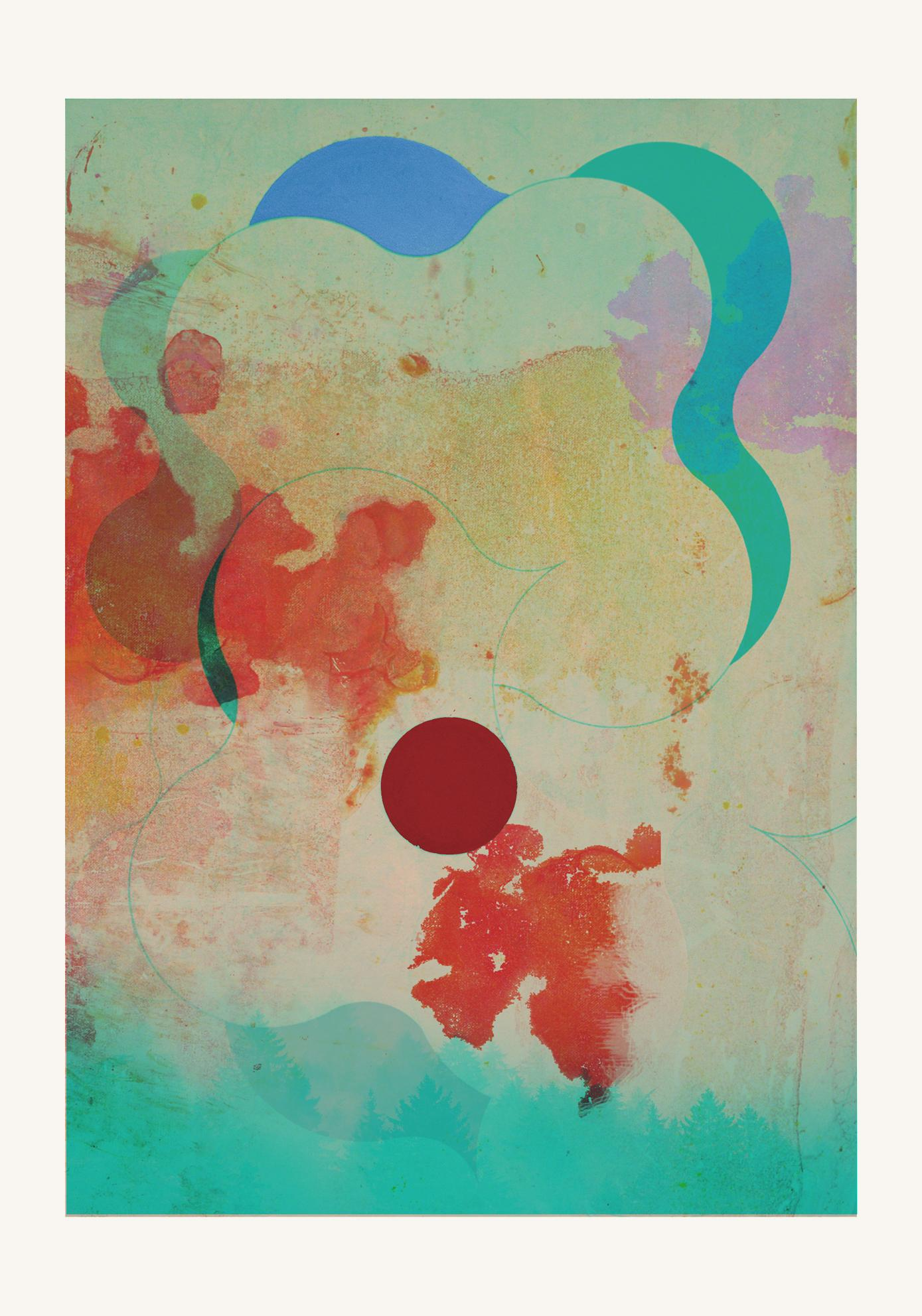 Forest 08 -Contemporary , Abstract, Gestual, , Pop, Modern, Geometric, landscape