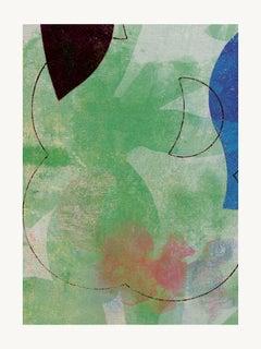 Green flower - Contemporary, Abstract, Expressionism, Modern, Pop art, Geometric