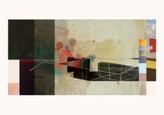L0310-Contemporary, Abstract, Modern, Pop art, Surrealist, expressionist, birds
