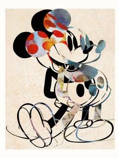 M003-Figurative, Pop art. Street art, Modern, Contemporary, Abstract Mickey Mous