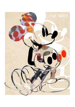 M004-Figurative, Street art, Modern, Pop art, Contemporary, Abstract Mickey Mous