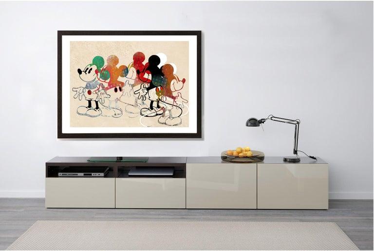 M010-Figurative, Street art, Pop art, Modern, Contemporary, Abstract Mickey Mous - Print by Francisco Nicolás