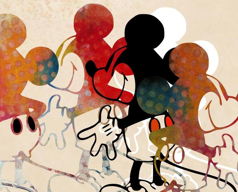M010-Figurative, Street art, Pop art, Modern, Contemporary, Abstract Mickey Mous - Pop Art Print by Francisco Nicolás