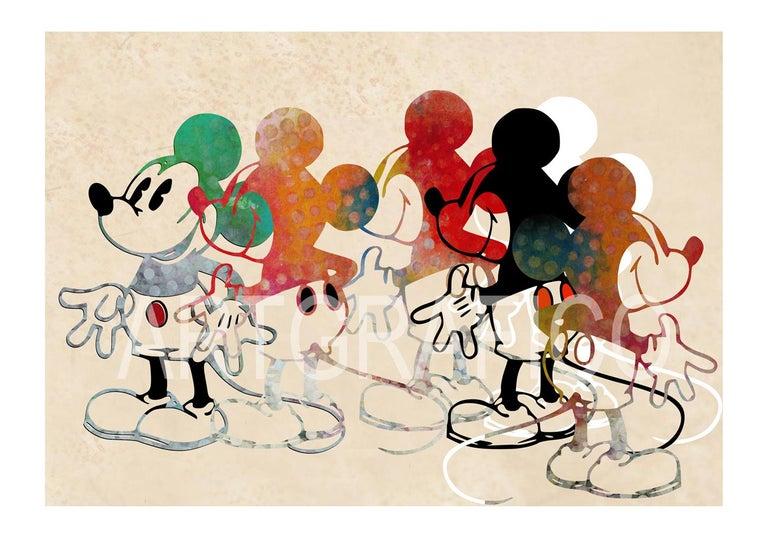 Francisco Nicolás Figurative Print - M010-Figurative, Street art, Pop art, Modern, Contemporary, Abstract Mickey Mous