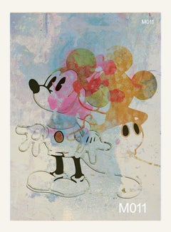 M011-Figurative, Street art, Pop art, Modern, Contemporary Abstract Mickey Mouse