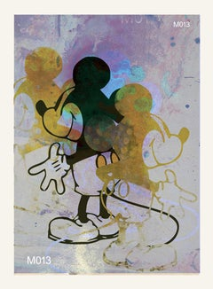 M013-Figurative, Street art, Pop art, Modern, Contemporary Abstract Mickey Mouse