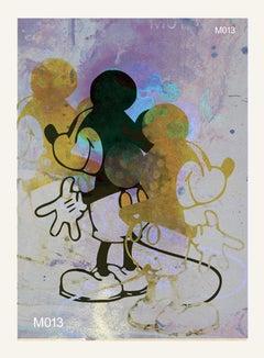 M013-Figurative, Street art, Pop art, Modern, Contemporary Abstract Mickey Mouse