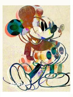 M014-Figurative, Pop art. Street art, Modern, Contemporary, Abstract Mickey Mous