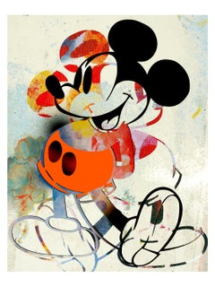 M016-Figurative, Pop art. Street art, Modern, Contemporary, Abstract Mickey Mous