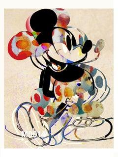 M018-Figurative, Pop art. Street art, Modern, Contemporary, Abstract Mickey Mous
