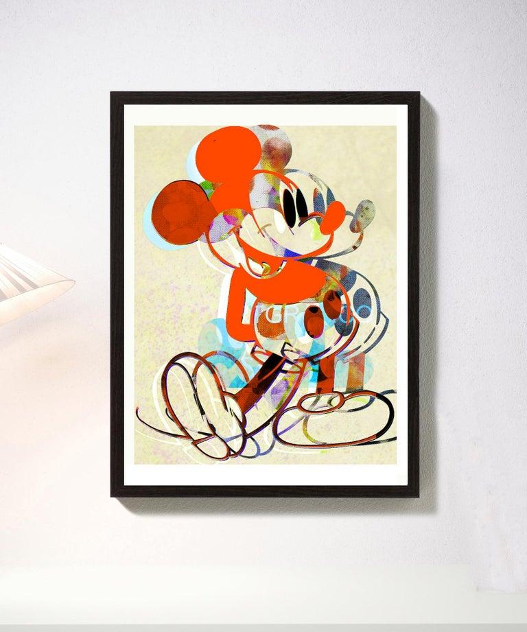 M020-Figurative, Pop art. Street art, Modern, Contemporary, Abstract Mickey Mous - Print by Francisco Nicolás