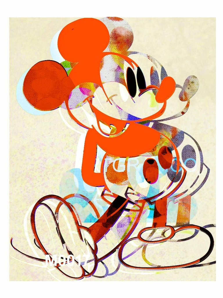 Francisco Nicolás Portrait Print - M020-Figurative, Pop art. Street art, Modern, Contemporary, Abstract Mickey Mous