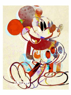M021-Figurative, Pop art. Street art, Modern, Contemporary, Abstract Mickey Mous