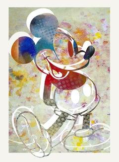 M112-Figurative, Street art, Pop art, Modern, Contemporary Abstract Mickey Mouse
