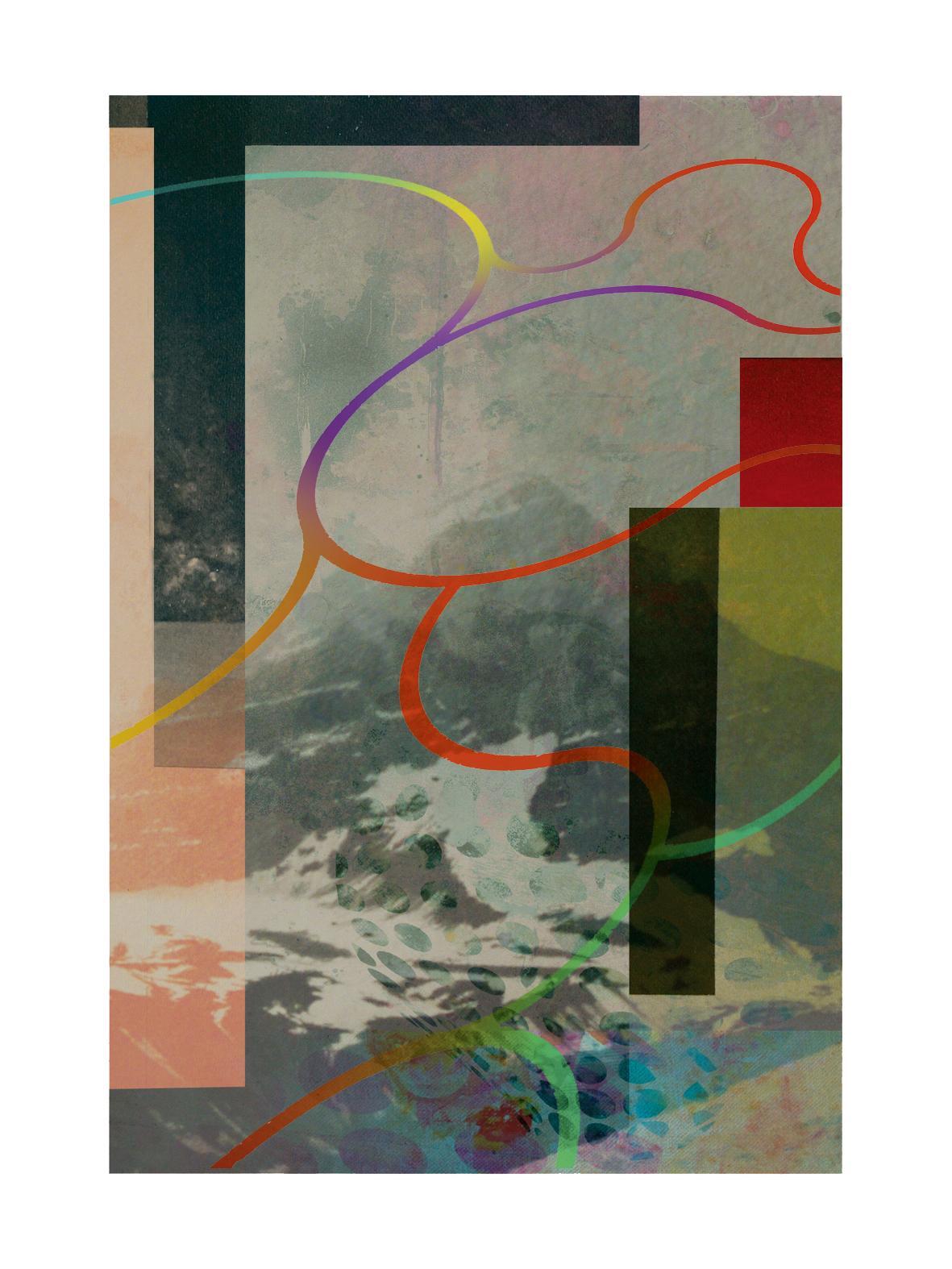 Mountains 002 - Contemporary, Abstract, Modern, Pop art, Surrealist, Landscape