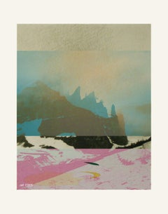Mountains - Contemporary, Abstract, Modern, Pop art, Surrealist, Landscape