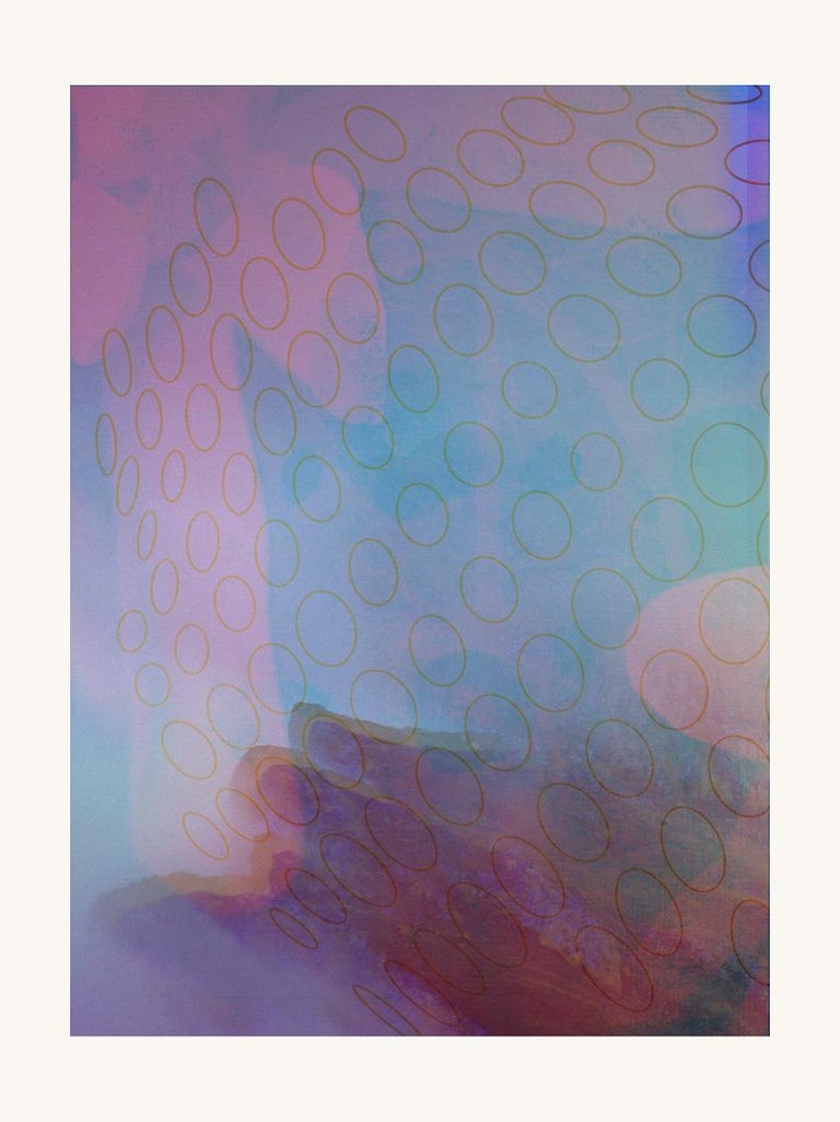 Francisco Nicolás Abstract Print - Pink Flowers - Contemporary, Abstract, Expressionism, Modern, Pop art, Geometric