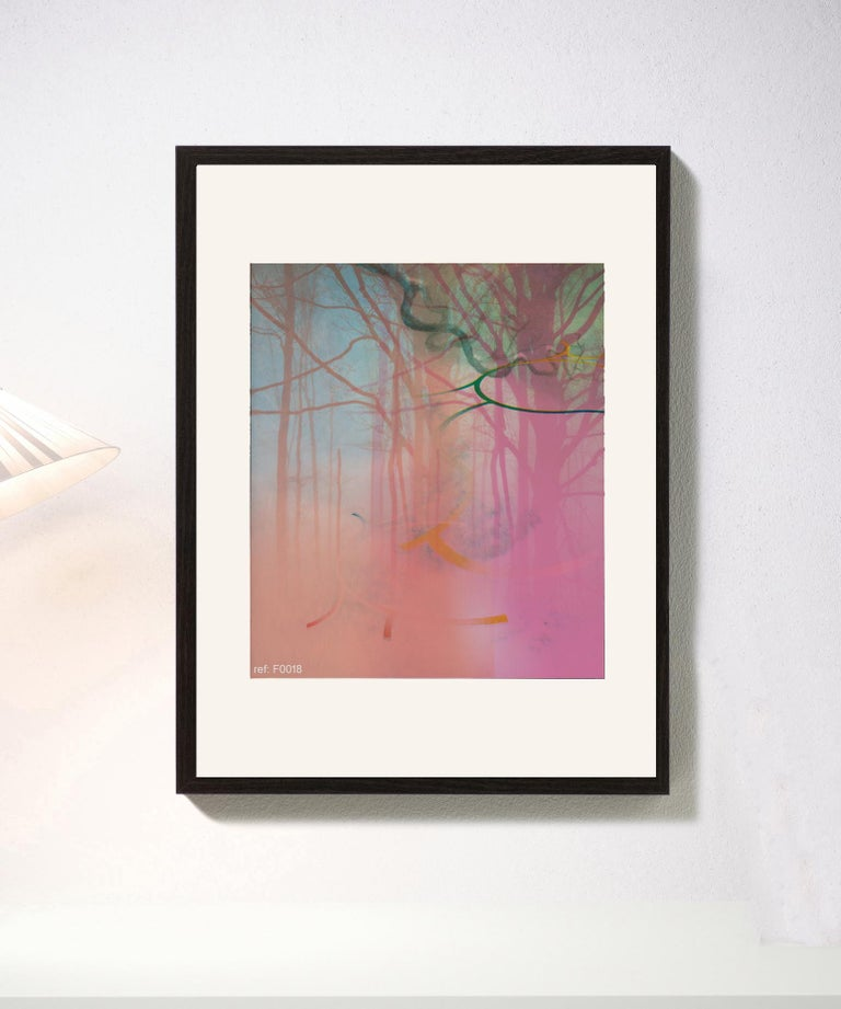 Pink Forest - Contemporary, Abstract, Modern, Pop art, Surrealist, Landscape - Print by Francisco Nicolás