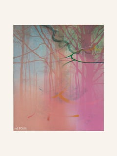Pink Forest - Contemporary, Abstract, Modern, Pop art, Surrealist, Landscape