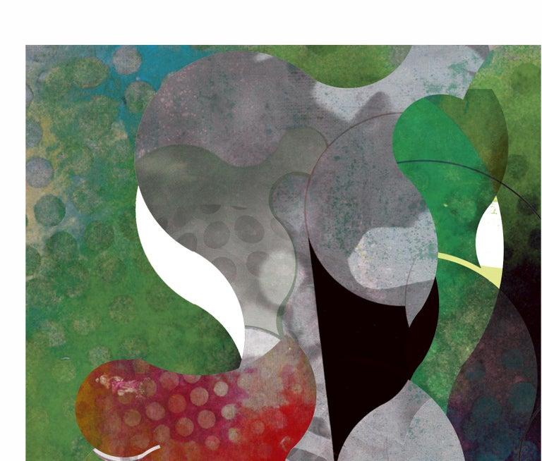 ST0045-Contemporary, Abstract Gestual, Street art, Pop art, Modern, Geometric - Pop Art Print by Francisco Nicolás
