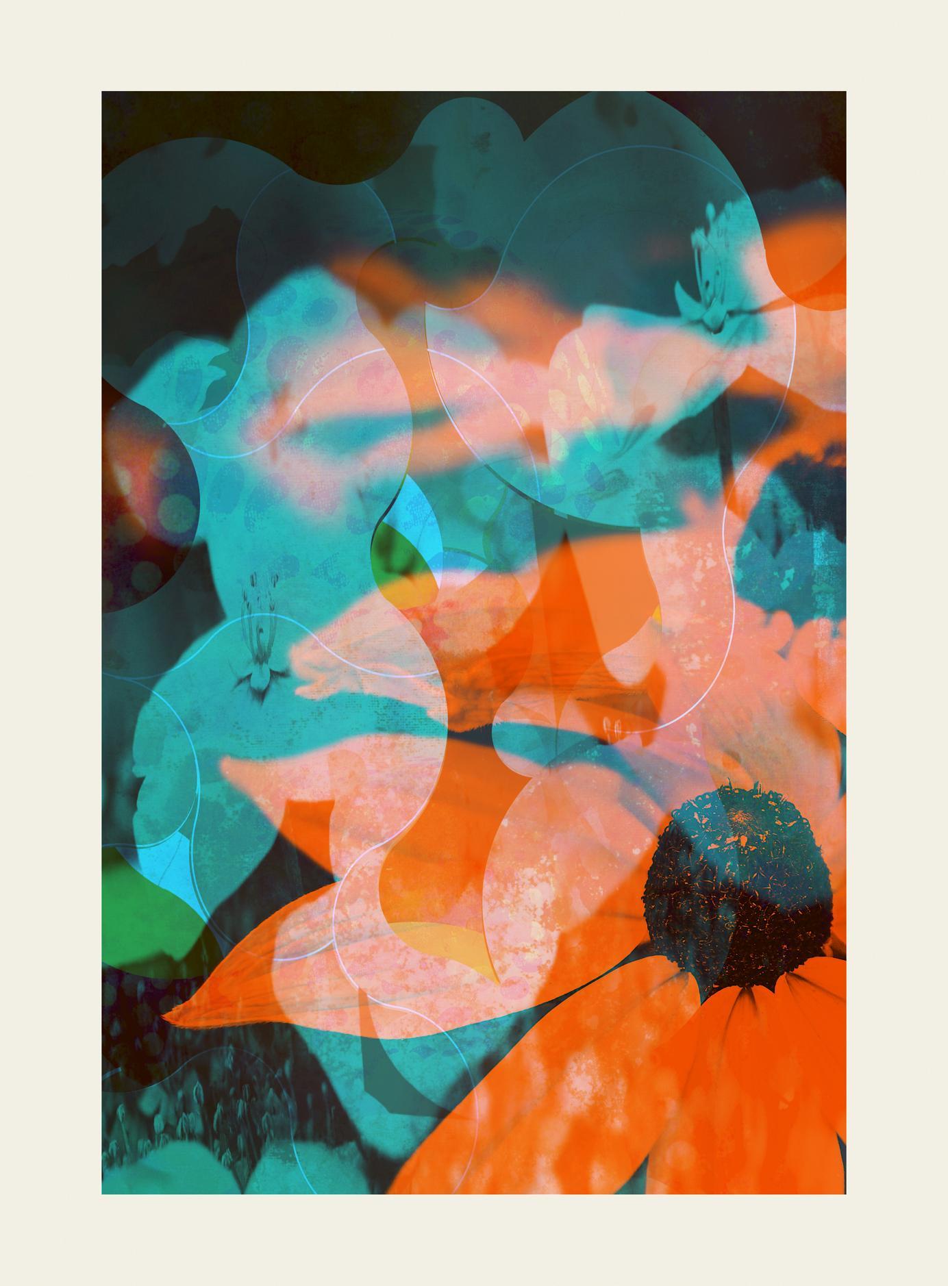 flower50-Contemporary, Abstract Gestual, Street art, Pop art, Modern, Geometric