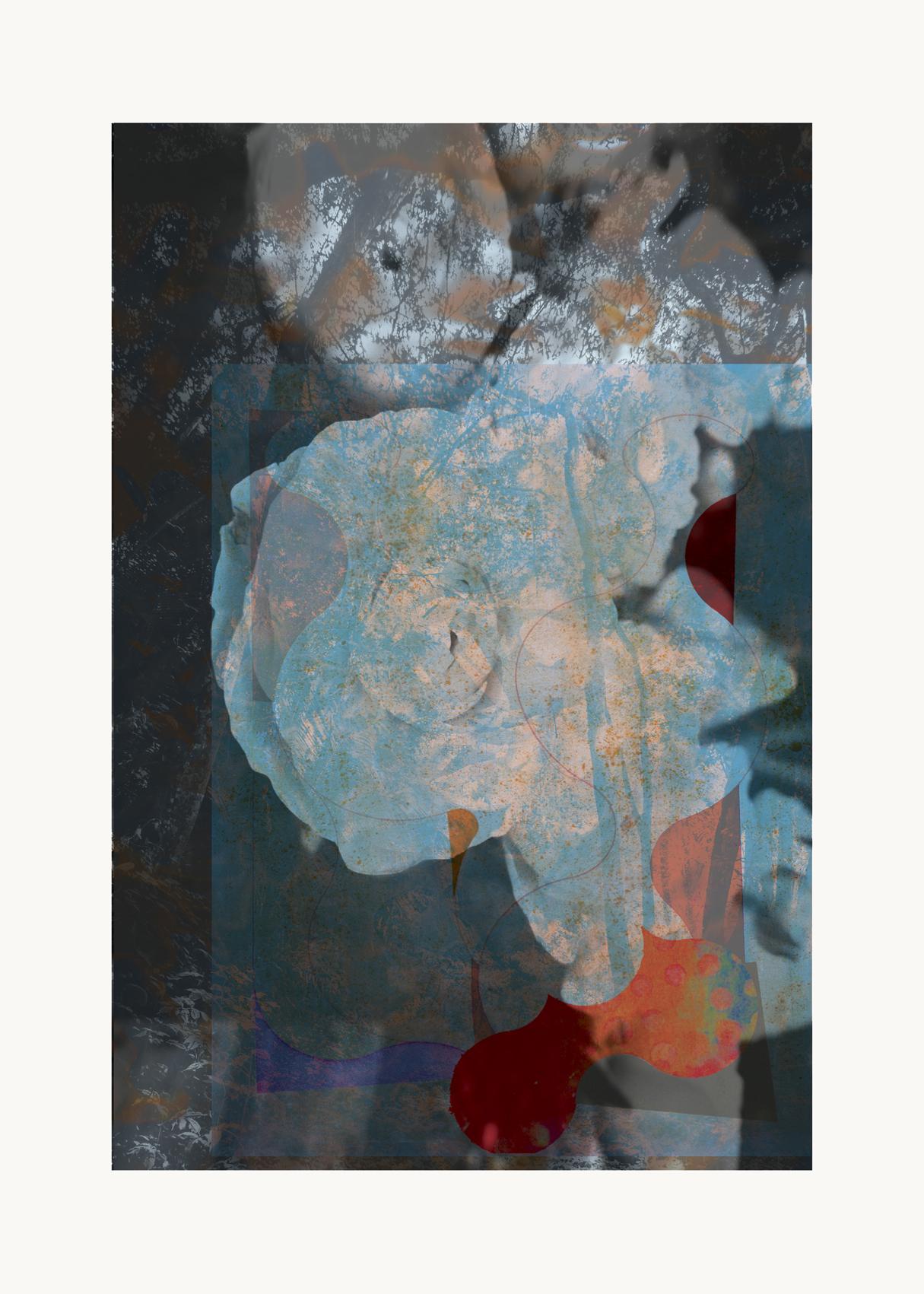 flower 20-Contemporary , Abstract, Gestual, Street art, Pop art, Modern,