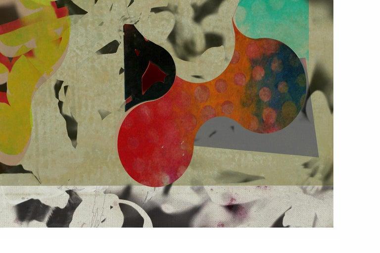 ST1b90-Contemporary , Abstract, Gestual, Street art, Pop art, Modern, Geometric - Print by Francisco Nicolás