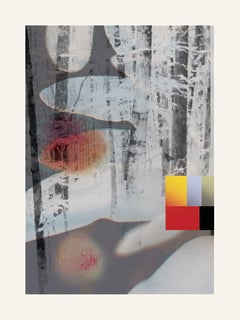White flowers - Contemporary, Abstract, Modern, Pop art, Surrealist, Landscape