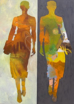 Two business women, Painting, Oil on Canvas