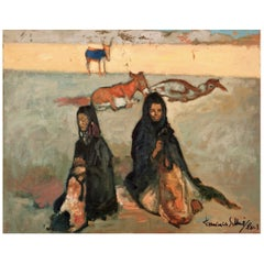 Francisco Sillué Painting of Gypsies