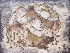 """""""El Sapo Que Se Enredó En Sus Hilos"""", Francisco Toledo, Lithograph, Oaxacan Art"""