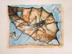 """""""La Hoja"""", Francisco Toledo, Lithograph, Kyron, Oaxacan Art"""