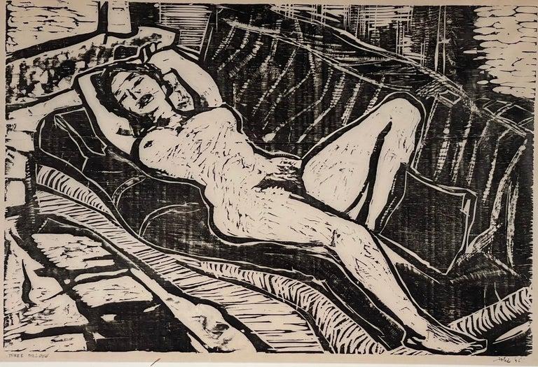 Francisco Toledo Figurative Print - THREE PILLOWS