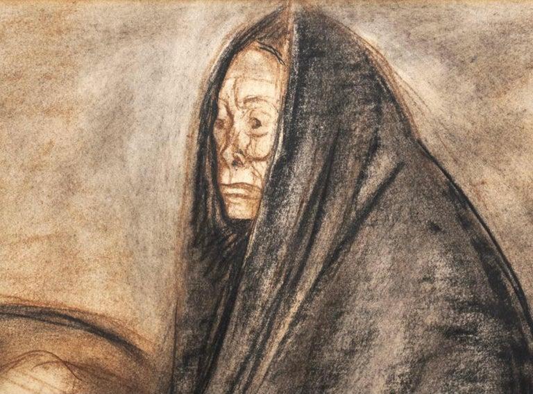 "Mexican Francisco Zuniga Original Painting ""Brujeria"" For Sale"
