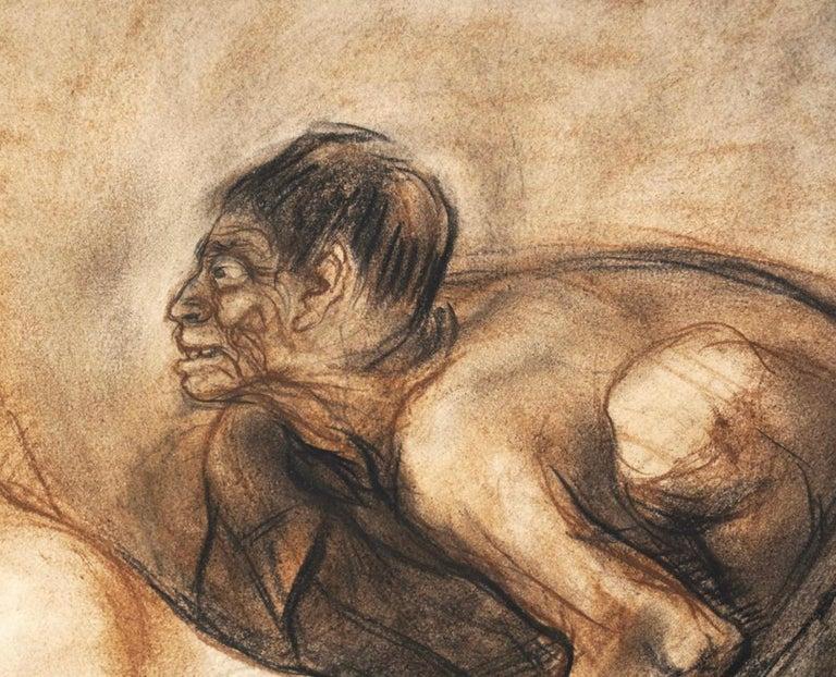 "Hand-Painted Francisco Zuniga Original Painting ""Brujeria"" For Sale"