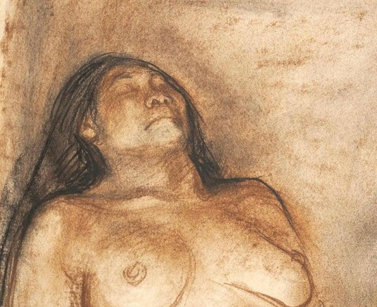 """Francisco Zuniga Original Painting """"Brujeria"""" In Good Condition For Sale In Dallas, TX"""