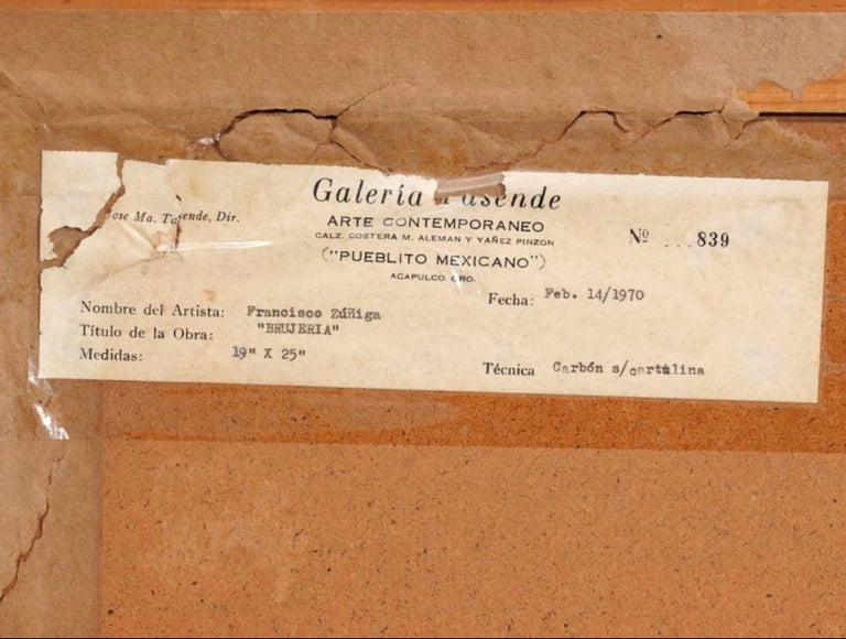 "Paper Francisco Zuniga Original Painting ""Brujeria"" For Sale"