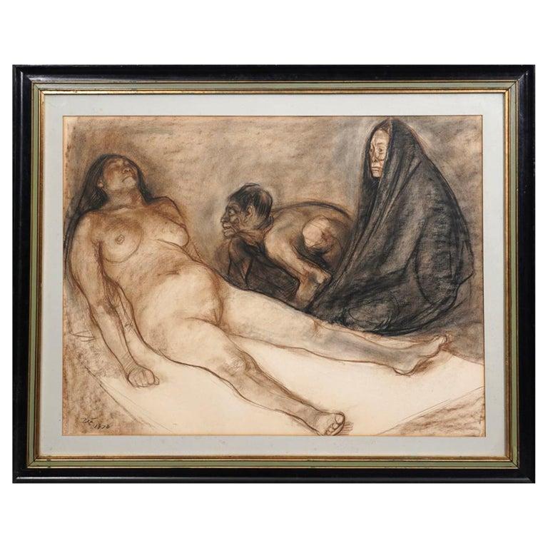"""Francisco Zuniga Original Painting """"Brujeria"""" For Sale"""