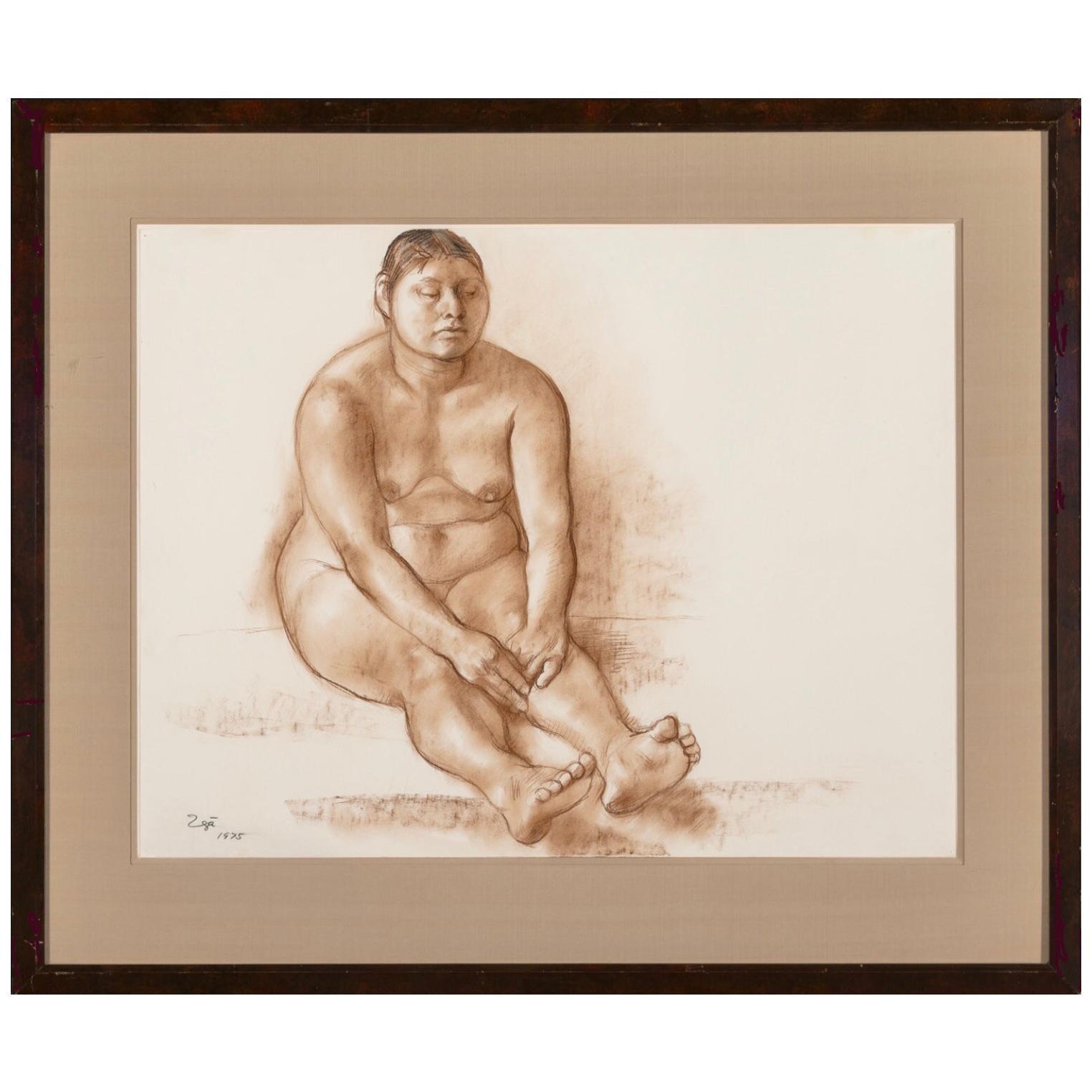 Francisco Zuniga Original Pastel Nude Painting Catalogued