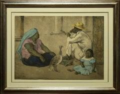 """Familia Indigena II"" by Francisco Zuniga 20 x 32 inch Lithograph"