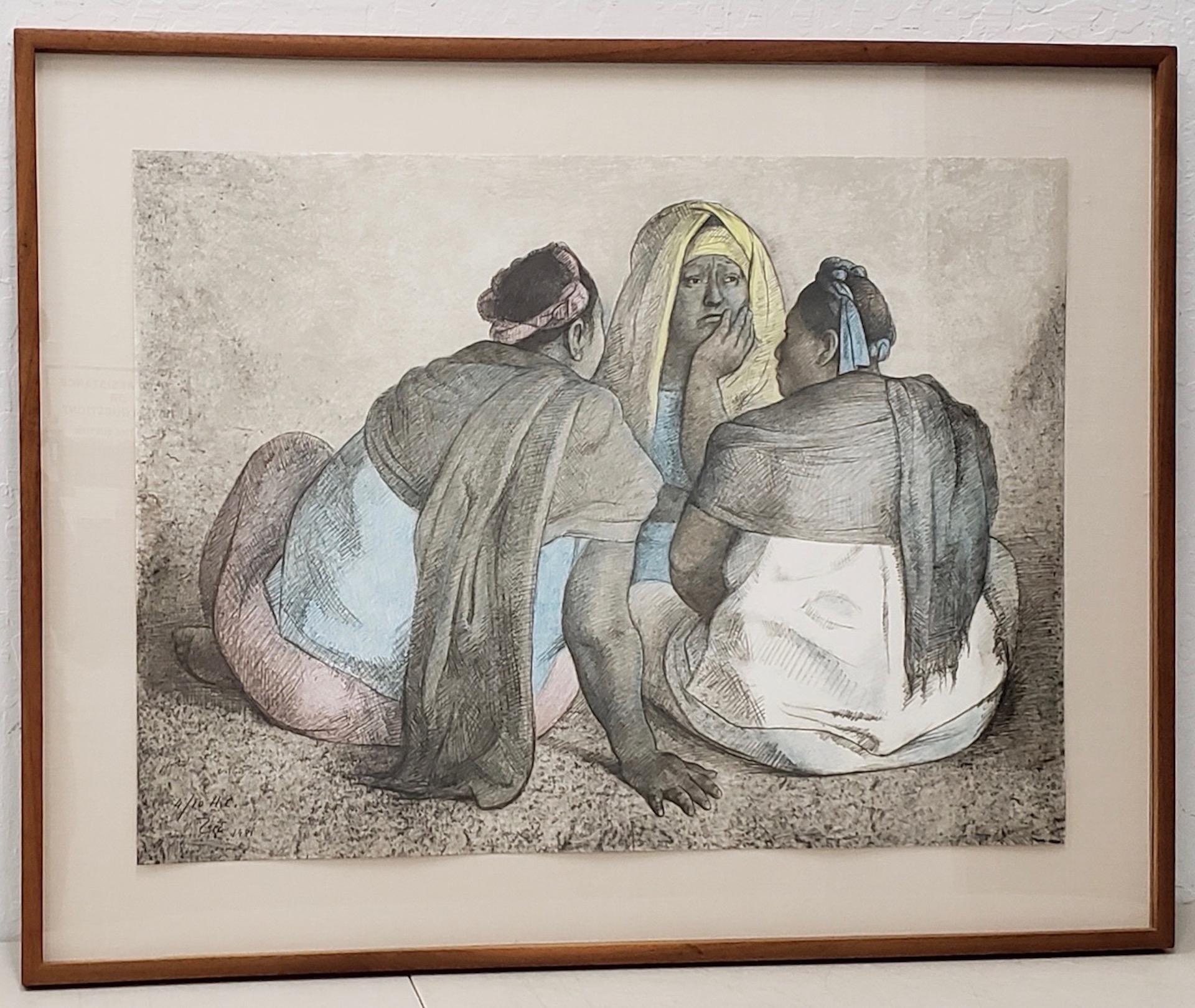 Grupo de Mujeres Sentadas III Artist Proof