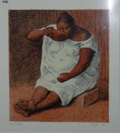 MUJER BEBIENDO (WOMAN DRINKING). B.98.