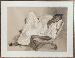 Mujer Reclinada, Lithograph by Francisco Zuniga 1977