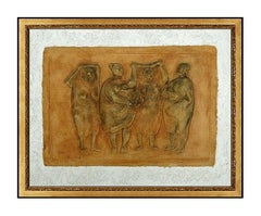 Francisco ZUNIGA Original RELIEF SCULPTURE Mixograph Grupo Mujeres Signed Art