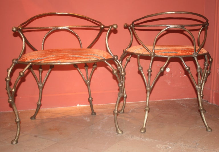 Franck Evennou 2009, Pair of Bronze Armchairs In Excellent Condition In Paris, FR