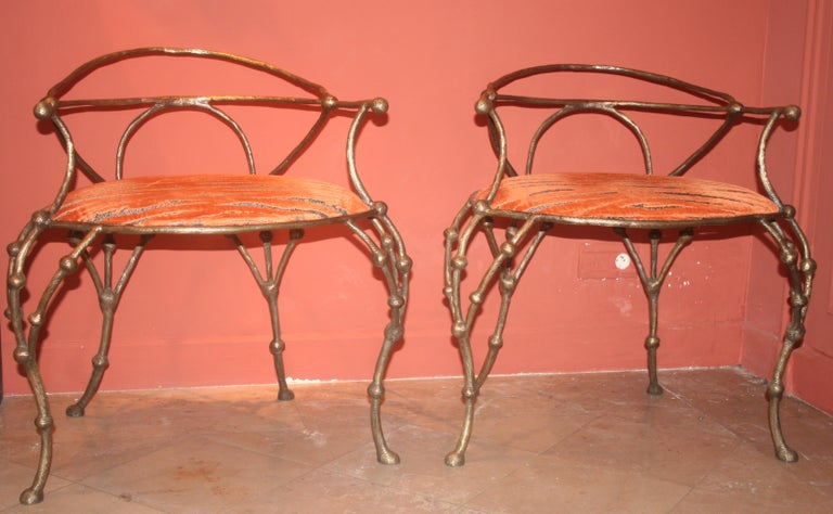 Contemporary Franck Evennou 2009, Pair of Bronze Armchairs