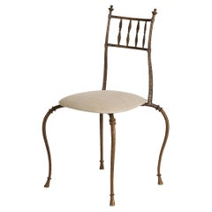 Franck Evennou, Club, Bronze Side Chair, France, 2000