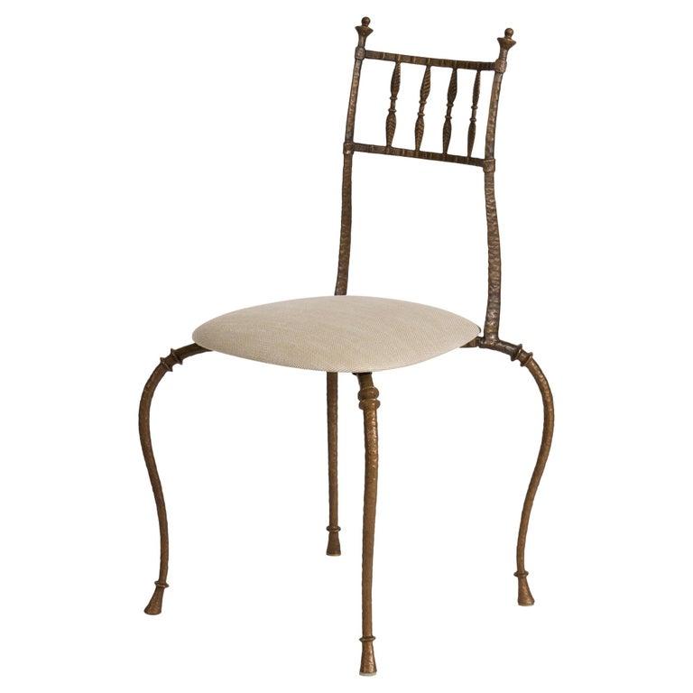 Club bronze side chair, 2000